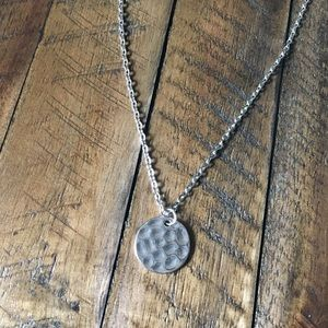 NWT! Round Silver Necklace